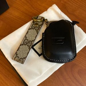 Authentic Gucci leather recycled into a key chain